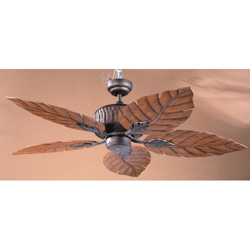 52 Fern Leaf 5 Blade Ceiling Fan With Remote Wayfair