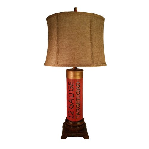 12 Gauge Shotgun Shell 30 H Table Lamp With Drum Shade
