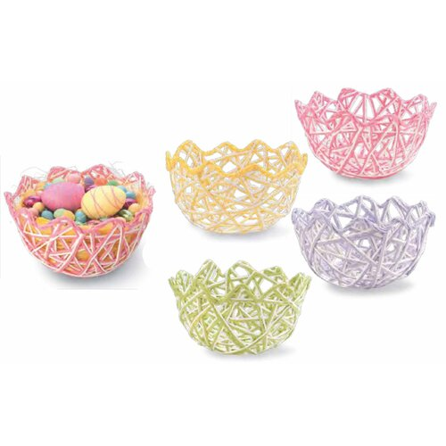 Boston International Paper Raffia Egg Basket