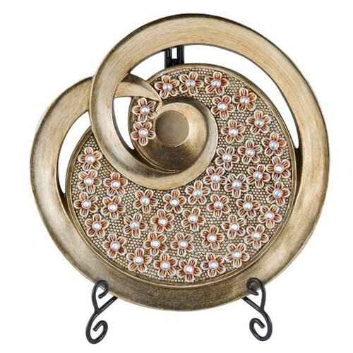 Dale tiffany rose wine decorative charger with stand reviews wayfair - Decoratieve platen ...