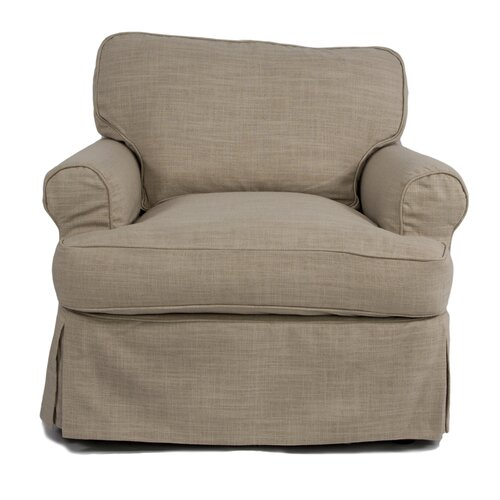 horizon armchair t cushion slipcover wayfair