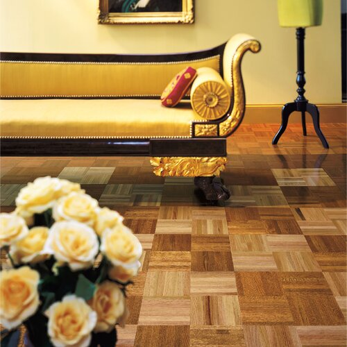 """Armstrong Urethane Parquet 12"""" Solid Oak Flooring in Standard"""