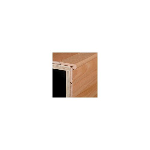 "Armstrong 0.38"" x 2.75"" Red Oak Stair Nose in Saddle"