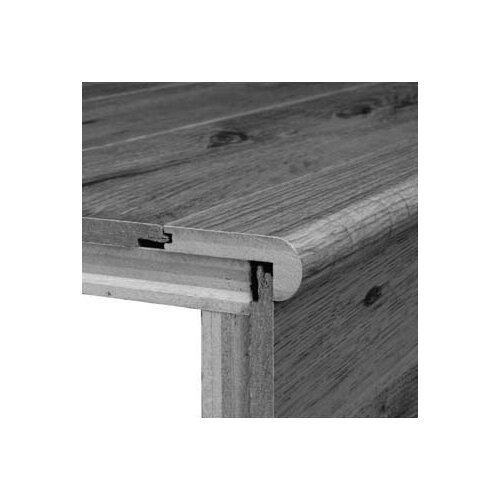 "Bruce Flooring 0.375"" x 2.75"" White Oak Stair Nose in Cherry"