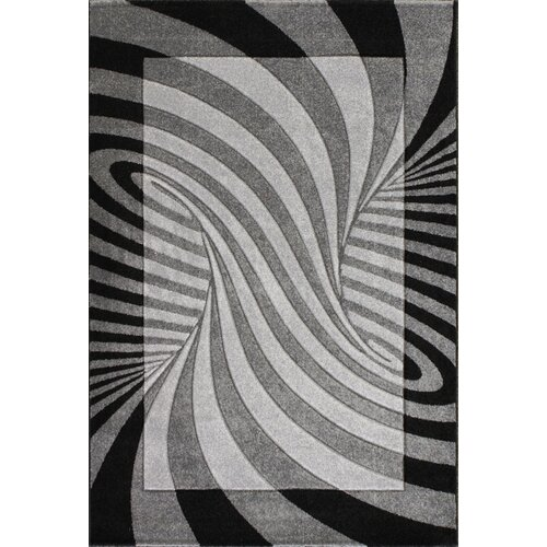 Central Oriental Oasis Waves Black/Grey Rug