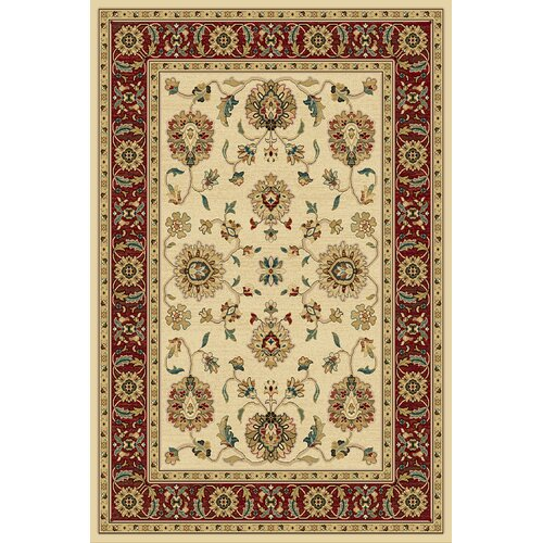 Central Oriental Paige Wheat and Crimson Thayer Rug