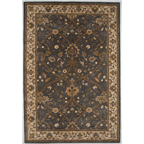Poeme Blue/Ivory Arts and Craft Rug