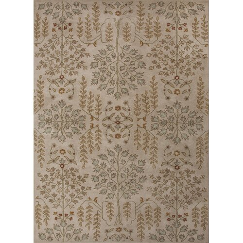 Poeme Ivory/Blue Arts and Craft Rug