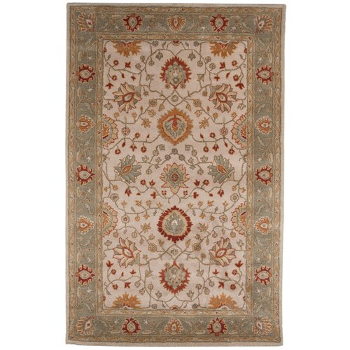 Poeme Dark Ivory/Grape Green Rug