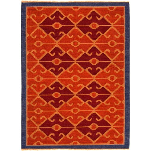 Jaipur Rugs Anatolia Red Oxide/Navy Tribal Rug