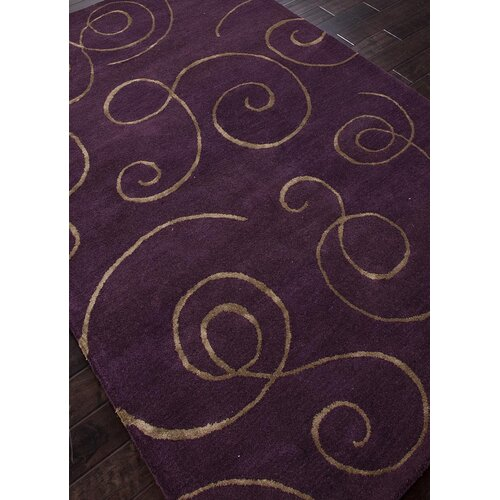 Jaipur Rugs Baroque Tulip Purple Abstract Rug
