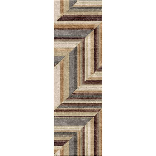 Colours I-O Brown Stripe Indoor/Outdoor Rug