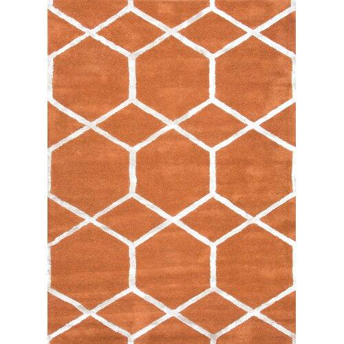 City Orange Geometric Rug