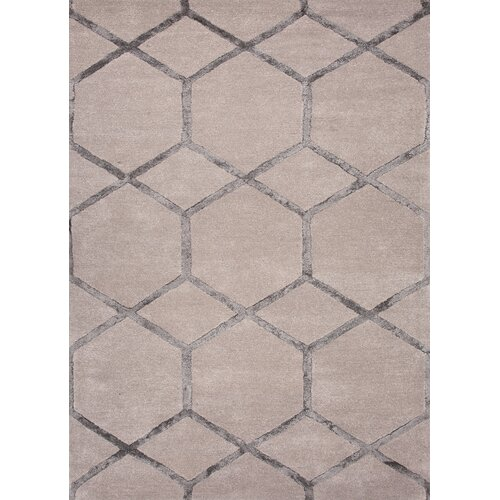 City Gray Geometric Rug