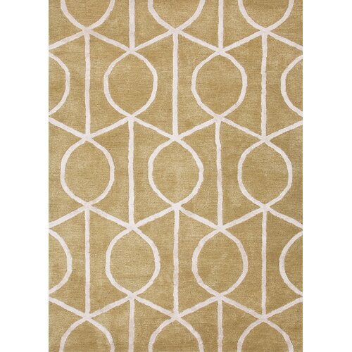 City Paradise Green Geometric Rug