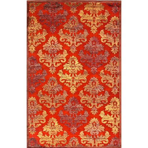 Fables Red/Orange Floral Rug