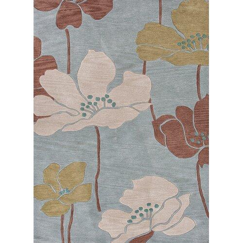 Fusion Blue Floral Rug