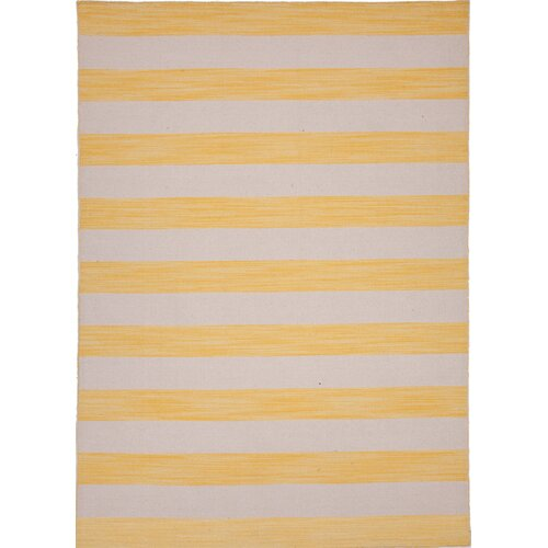 Jaipur Rugs Pura Vida Yellow/Gold Stripe Rug