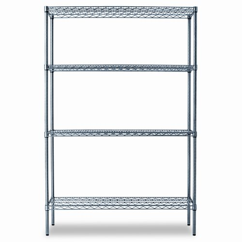 "Alera® Industrial Wire 72"" H 4 Shelf Shelves Shelving Starter Kit"