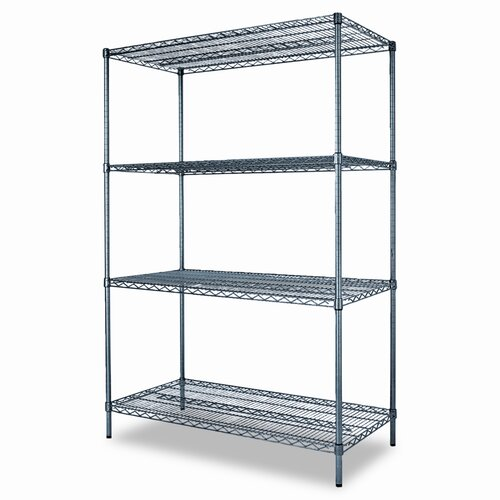 "Alera® Industrial Wire 72"" H 34Shelf Shelving Unit Starter Kit"