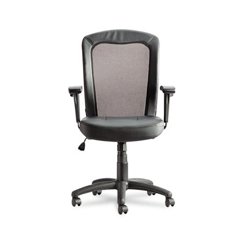 Alera® Easton Series Mid-Back Leather Swivel / Tilt Office Chair