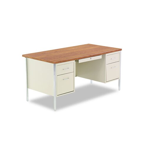 Alera® Executive Desk with Double Pedestal