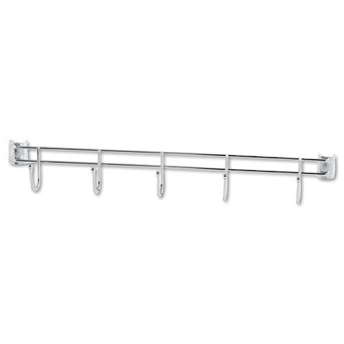 "Alera® 24"" Hook Bars for Wire Shelving in Silver"