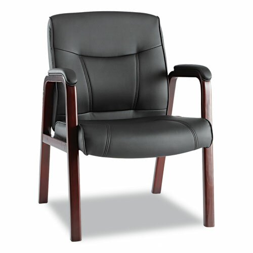 Alera® Madaris Leather Guest Chair