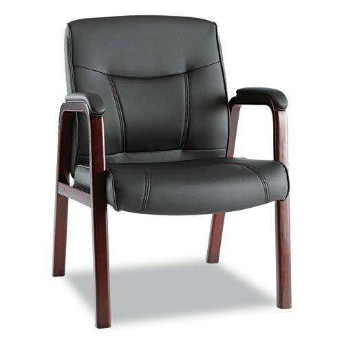 Alera® Madaris Leather Guest Chair
