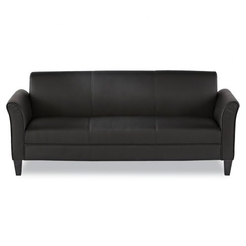Alera® Three Seat Leather Lounge Sofa