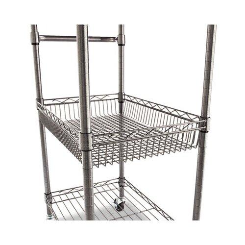 "Alera® 36"" Wire Shelving 3-Tier Rolling Cart"