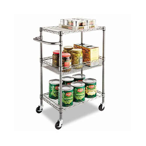 "Alera® 36"" Wire Shelving 3-Tier Rolling Cart"
