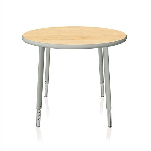 KI Furniture Intellect Series Round Activity Table with Adjustable Legs