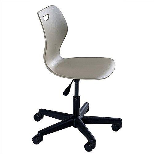 "KI Furniture Wave Series Adjustment Height 16.5"" - 21.5"" Steel Classroom Pedestal Chair"