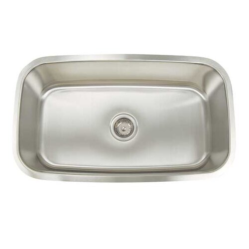 "Artisan Sinks  Premium Series 31.5"" x 18.25"" Rectangular Single Bowl Undermount Kitchen Sink"