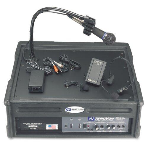 AmpliVox Sound Systems Wireless Roving Rostrum Podium 50 Watt Lectern PA