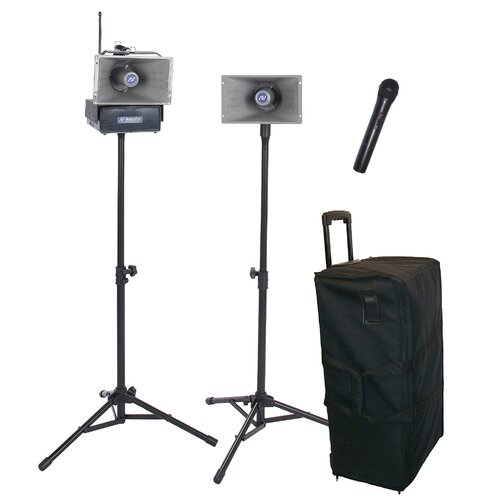 AmpliVox Sound Systems Wireless Handheld Half-Mile 50 Watt Hailer