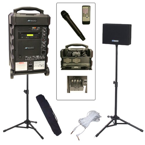 AmpliVox Sound Systems Titan 800 Wireless Portable Bundle PA System