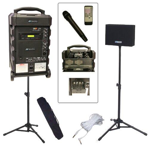 AmpliVox Sound Systems Titan 800 Wireless Portable Bundle PA System