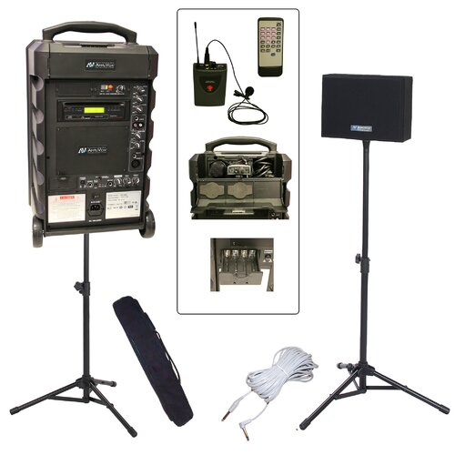 AmpliVox Sound Systems Titan 800L Wireless Portable Bundle PA System
