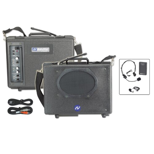 AmpliVox Sound Systems Wireless Audio Portable Buddy 50 Watt PA System
