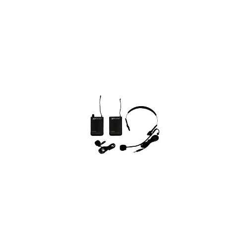 AmpliVox Sound Systems Wireless 16 Channel UHF Lapel and Headset Microphone Replacement Kit