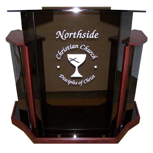 AmpliVox Sound Systems Acrylic Deluxe Tabletop Lectern