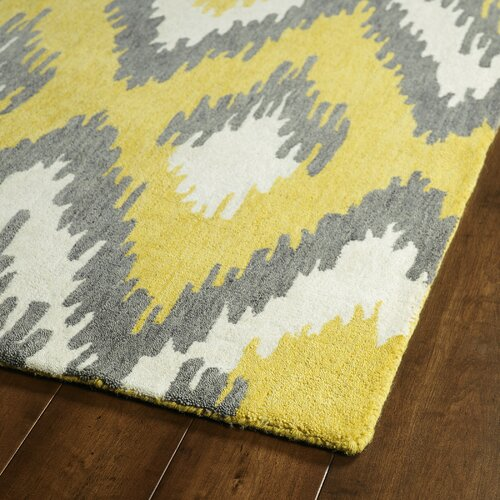 Global Inspirations Yellow & Grey Area Rug