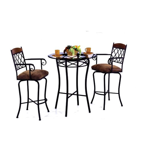 Tempo Madrid 3 Piece Counter Height Pub Table Set