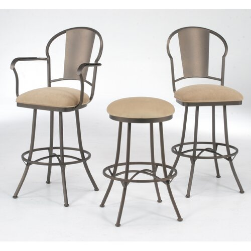 """Tempo Chaucer 26"""" Bar Stool with Cushion"""