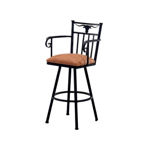 "Tempo Longhorn 34"" Bar Stool with Cushion"