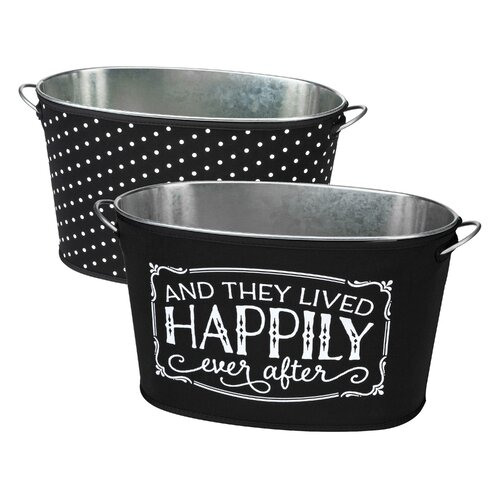 Occasionally Made 2 Piece Happily Ever After Beverage Tub Set