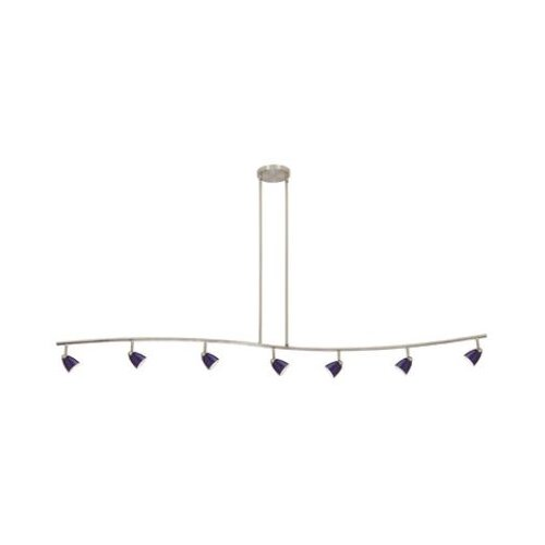 Cal Lighting Serpentine 7 Light Track Light with Glass