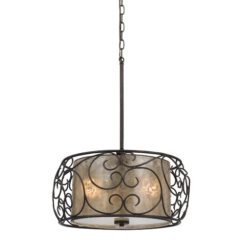 Santos 3 Light Drum Pendant/Chandelier